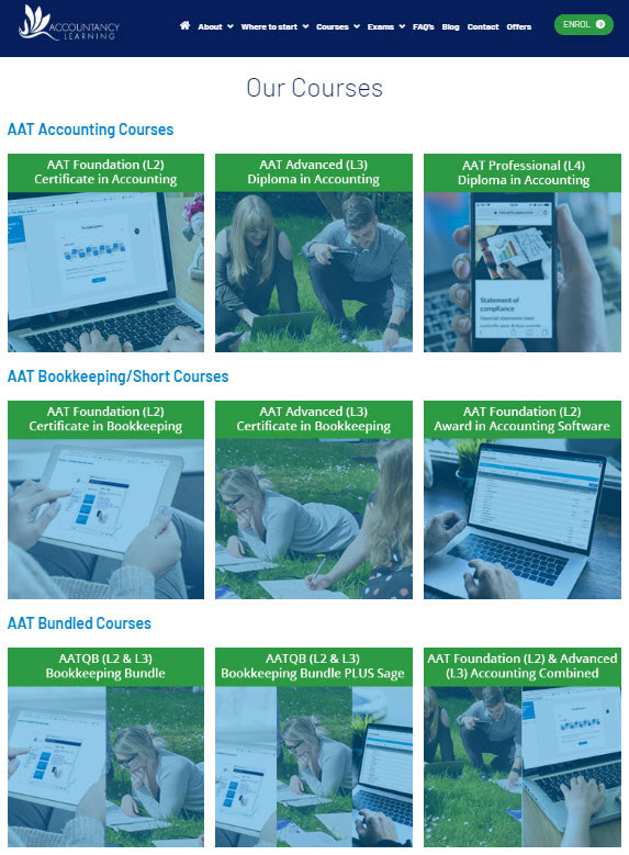 Website Screenshot on How to Enrol