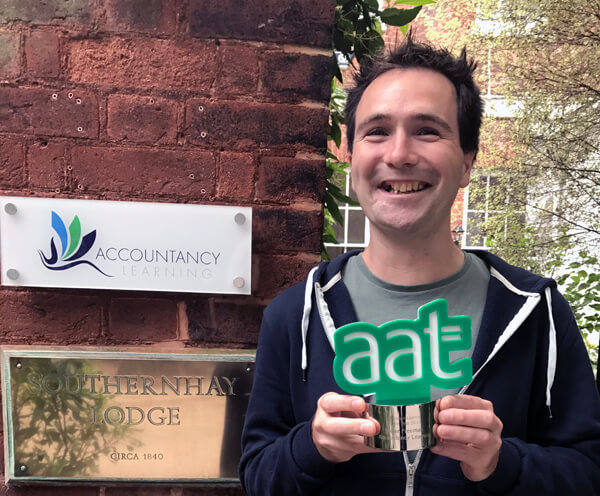 Pete Freeman Winner of AAT Distance Learning Student of the Year 2017