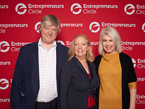 Deborah Meaden with Simon and Prue at Entrepreneurs Circle