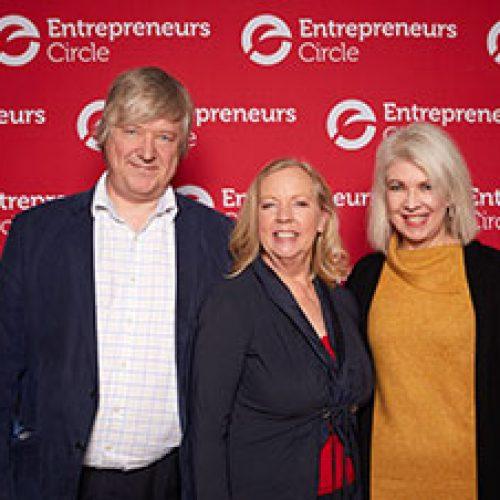 Deborah Meaden with Simon and Prue at Entrepreneurs Circle